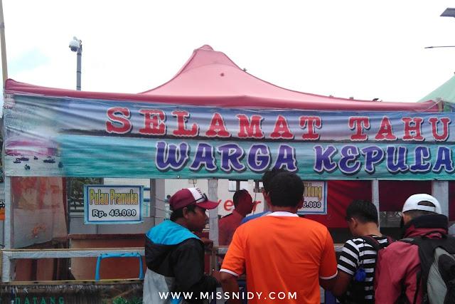 loket penjualan tiket kapal ke pulau tidung di pelabuhan muara angke