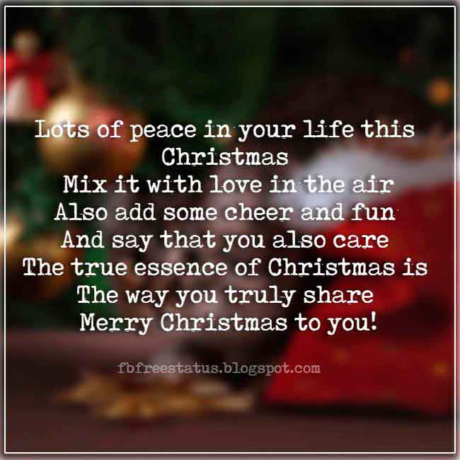 Christmas saying about for cards and Christmas Pictures