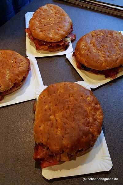 Pastrami-Sandwiches in der Metzgerei Brath in Karlsruhe - immer wieder Donnerstags