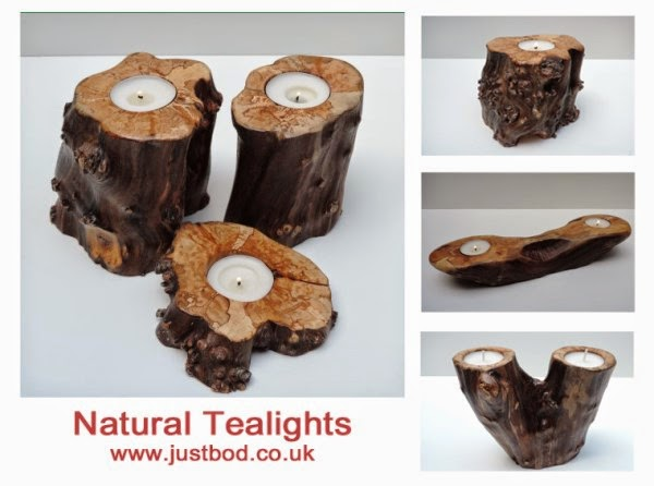 Natural Wooden Tealight holders