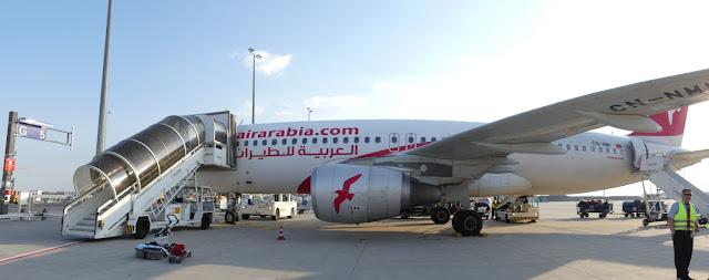 Flughafen Marrakesch-Menara - Boarden der Air Arabia A320