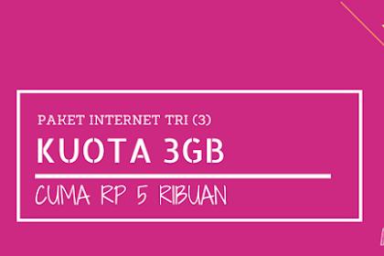 Paket Promo Tri 3GB Cuma 5 Ribu (2,5GB Berlaku Seumur Kartu), Mau Enggak?