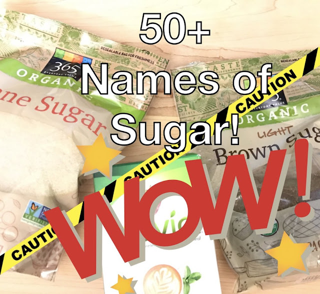 50 names of sugar sweeteners