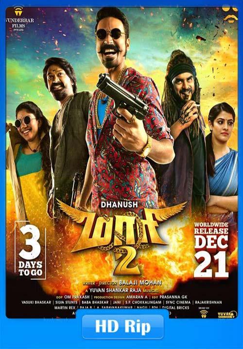 Maari 2 2019 720p HDRip Tamil Telugu Malayalam ESubs x264 | 480p 300MB | 100MB HEVC