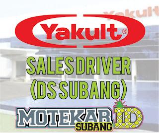 Info Loker Sales Driver (DS Subang) Yakult Subang 2019