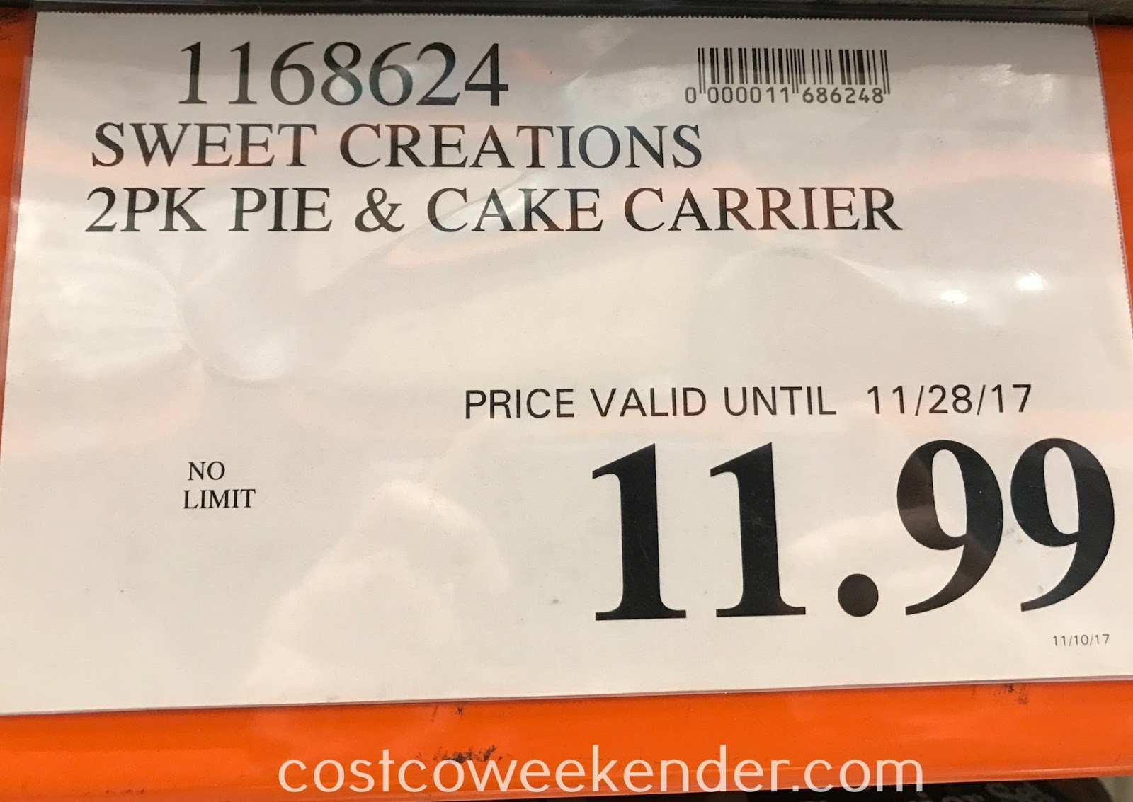 Costco 1168624 - Deal for the Sweet Creations Pie & Cake Carrier Set at Costco