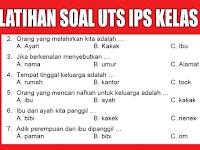 Latihan Soal UTS Pelajaran IPS Kelas 1 SD/MI Semester 1 Ganjil