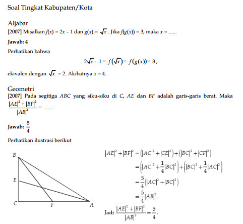 Contoh Soal Olimpiade Matematika Sma Dan Pembahasannya Skuylahhu