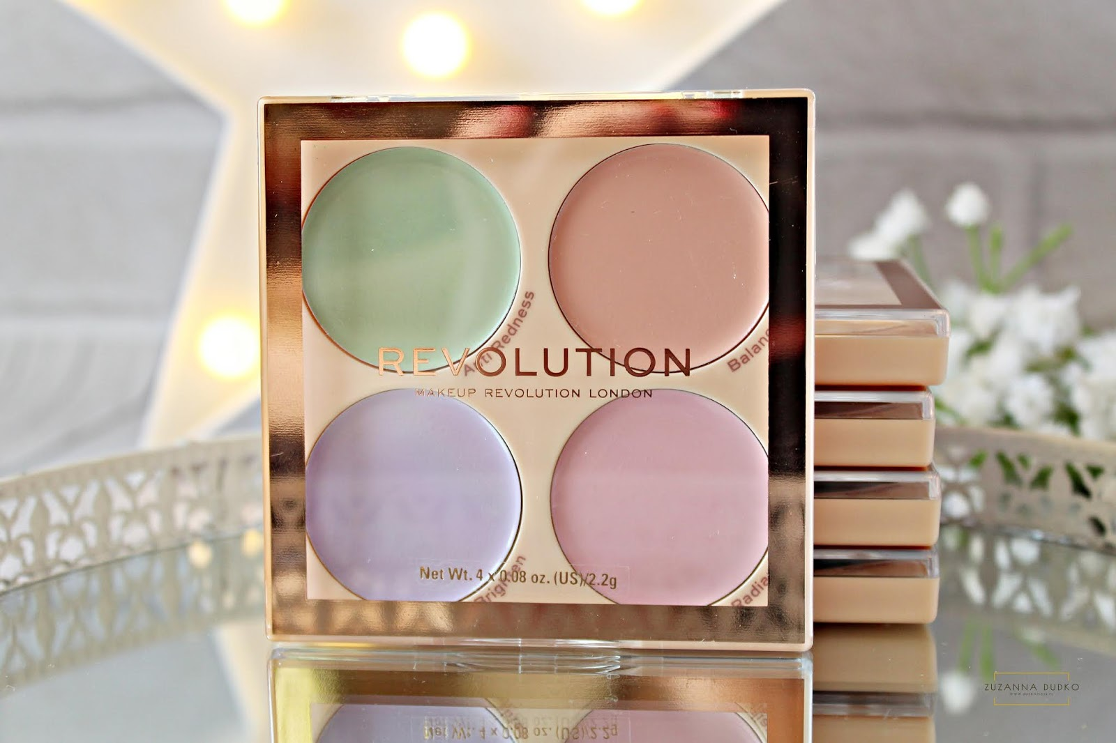 paletka z korektorami - Makeup Revolution Matte Base Corrector Kit