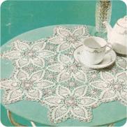 "Tapete ""Flor Campestre"" a Crochet"