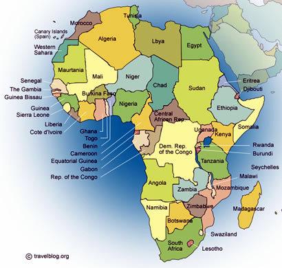 letak benua afrika
