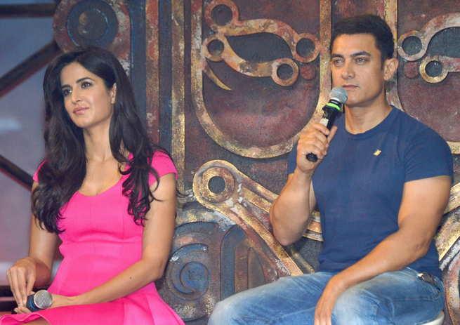Katrina Kaif and aamir khan promoting Dhoom 3