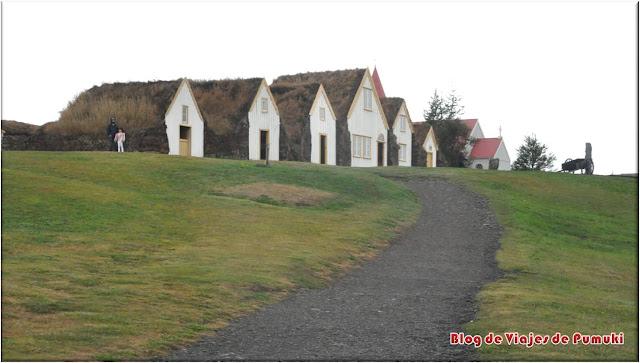 En Glaumbaer se pueden visitar las casas turf, construcción tradicional islandesa.