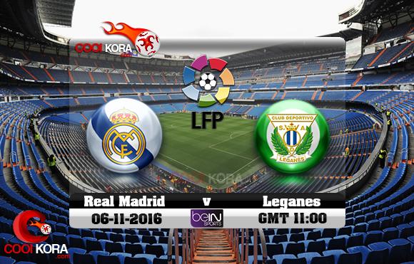 مشاهدة مباراة ريال مدريد وليغانيس اليوم 6-11-2016 في الدوري الأسباني