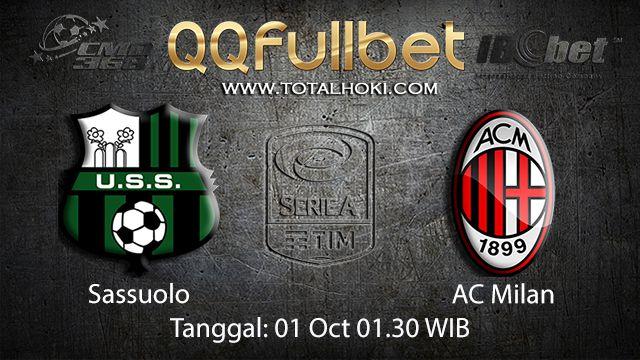 Prediksi Bola Jitu Sassuolo vs AC Milan 01 October 2018 ( Italian Serie A )