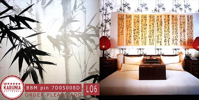 wallpaper motif bambu jual surabaya