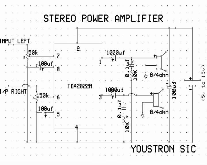 Scematic Diagram: Mobile External Speakers Circuit