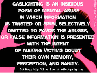 Estrangement Diaries: A Recovery Journal: Gaslighting? What