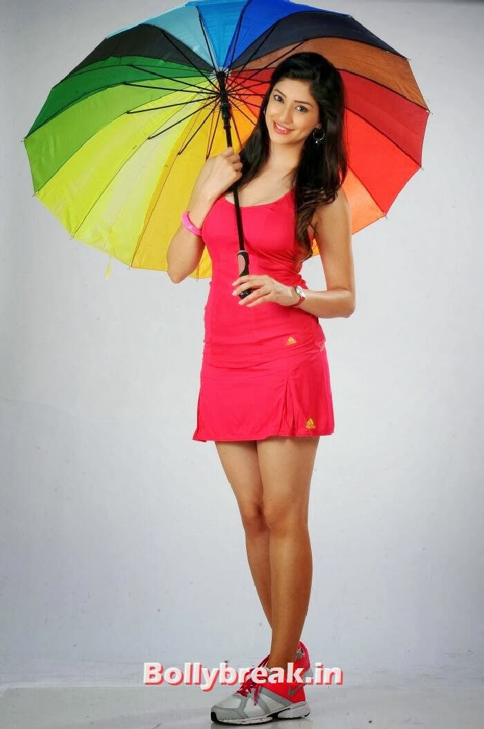 , Tanvi Vyas Photoshoot in Red Dress with Umbrella