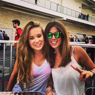 LAURA MONTERO and her friend