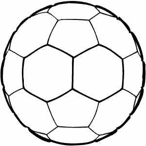 Imagenes para colorear: Balon de futbol para colorear