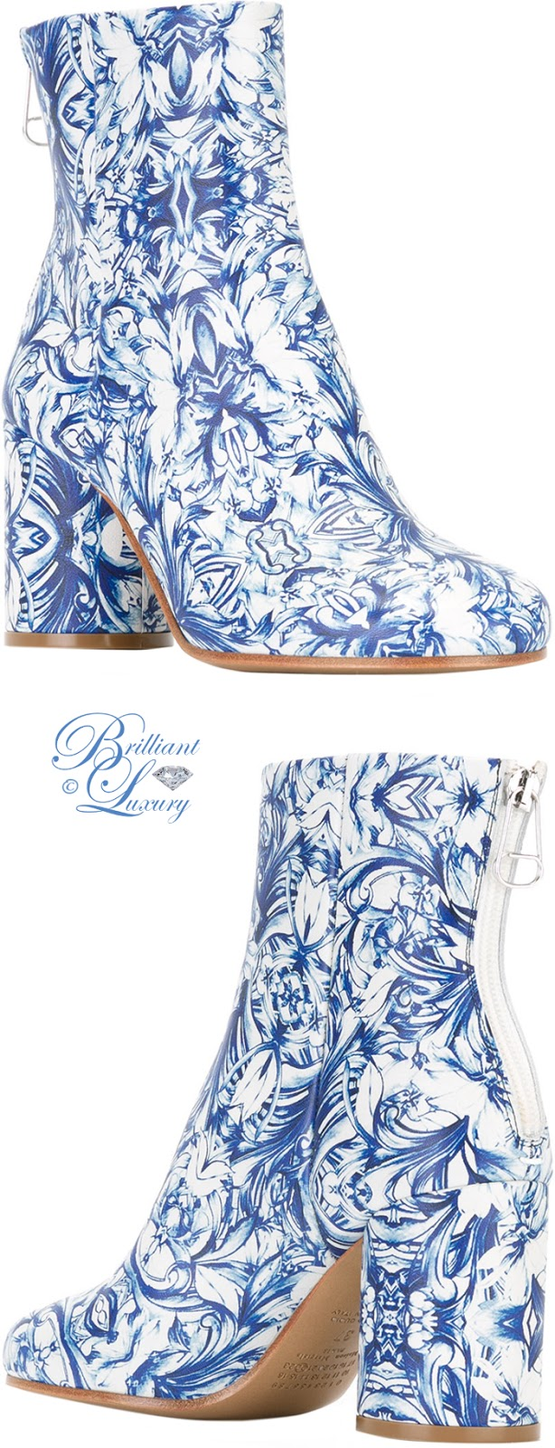 Brilliant Luxury ♦ Maison Margiela china print boots