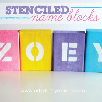 Stenciled Name Blocks