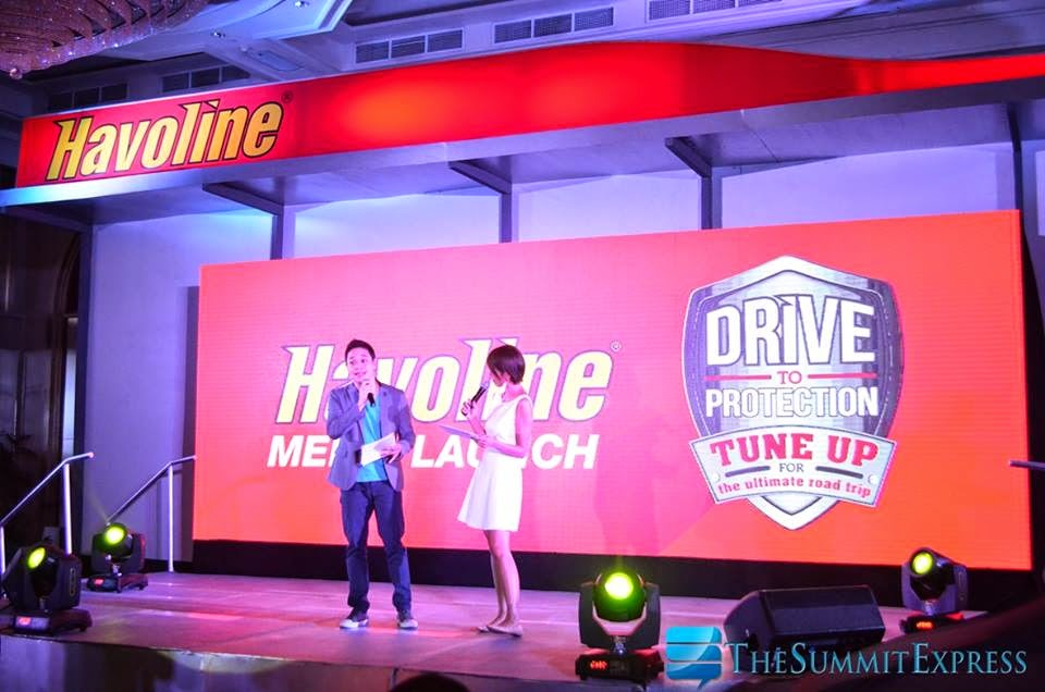 Vince Golangco and Bea Lim host Havoline relaunch event