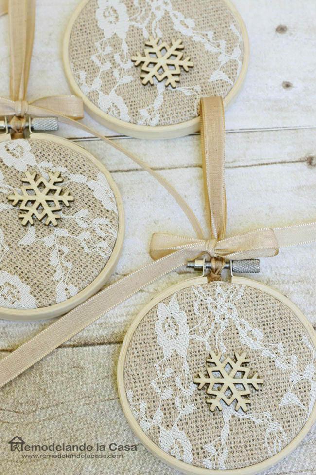 Embroidery Hoop Christmas Ornaments Remodelando La Casa