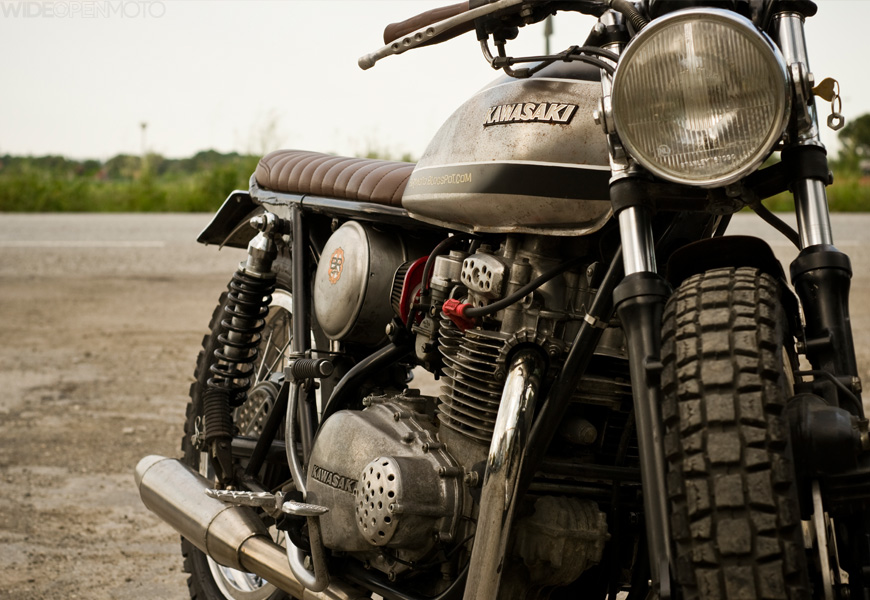 kawasaki kz400 bolo sh!t ~ return of the cafe racers