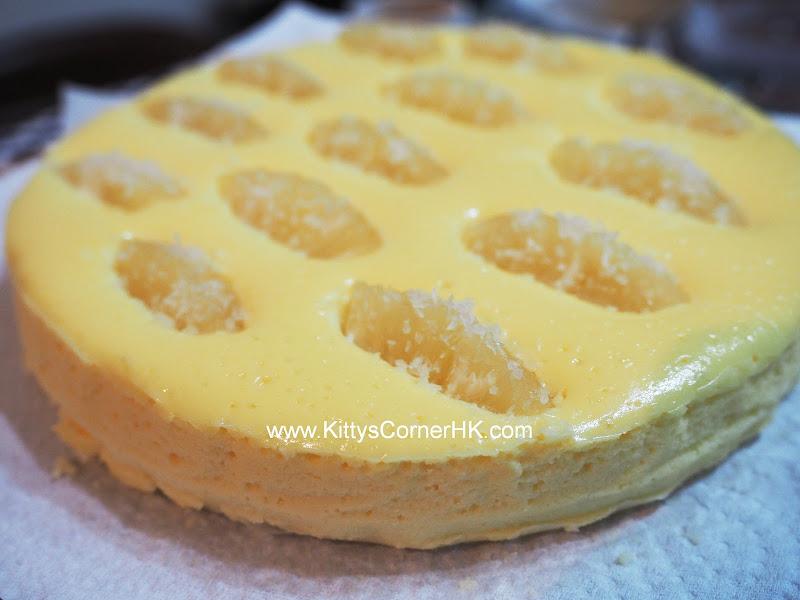 Cheesecake with Pineapple DIY recipe 芝士菠蘿蛋糕 自家烘焙食譜
