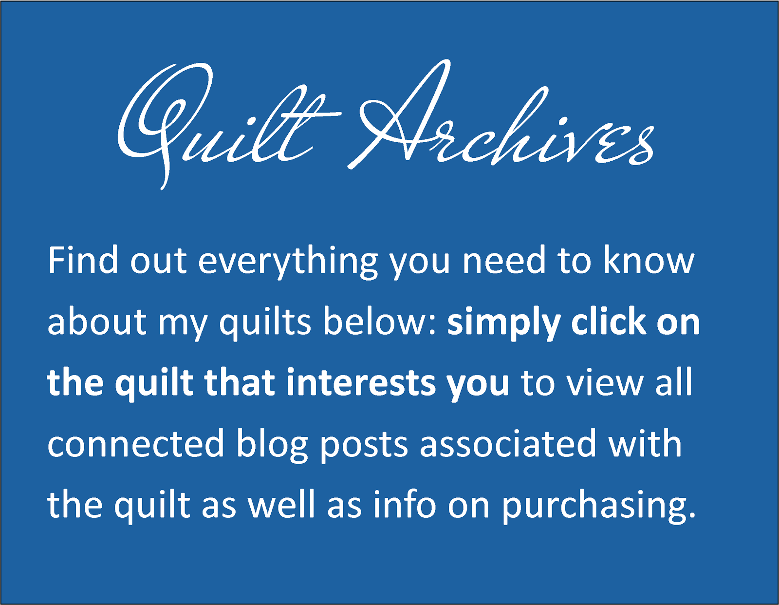 Looking for one of my quilts?