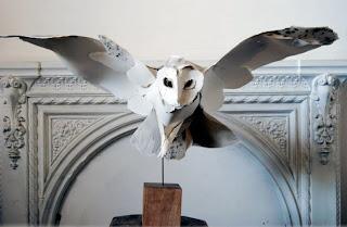 esculturas  con papel.