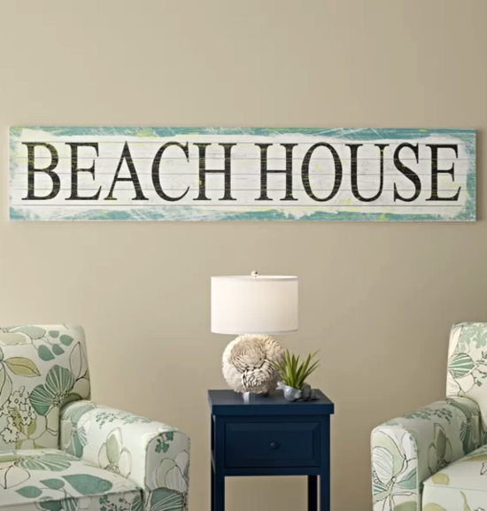 Beach House Wall Art Decor Signs