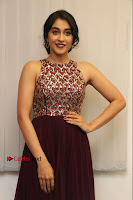 Actress Regina Candra Latest Stills in Maroon Long Dress at Saravanan Irukka Bayamaen Movie Success Meet .COM 0030.jpg
