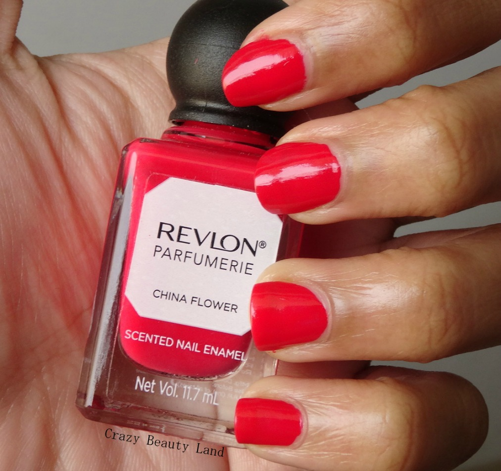 Revlon Parfumerie Perfume Scented Nail Enamel in China Flower Review NOTD Swatches