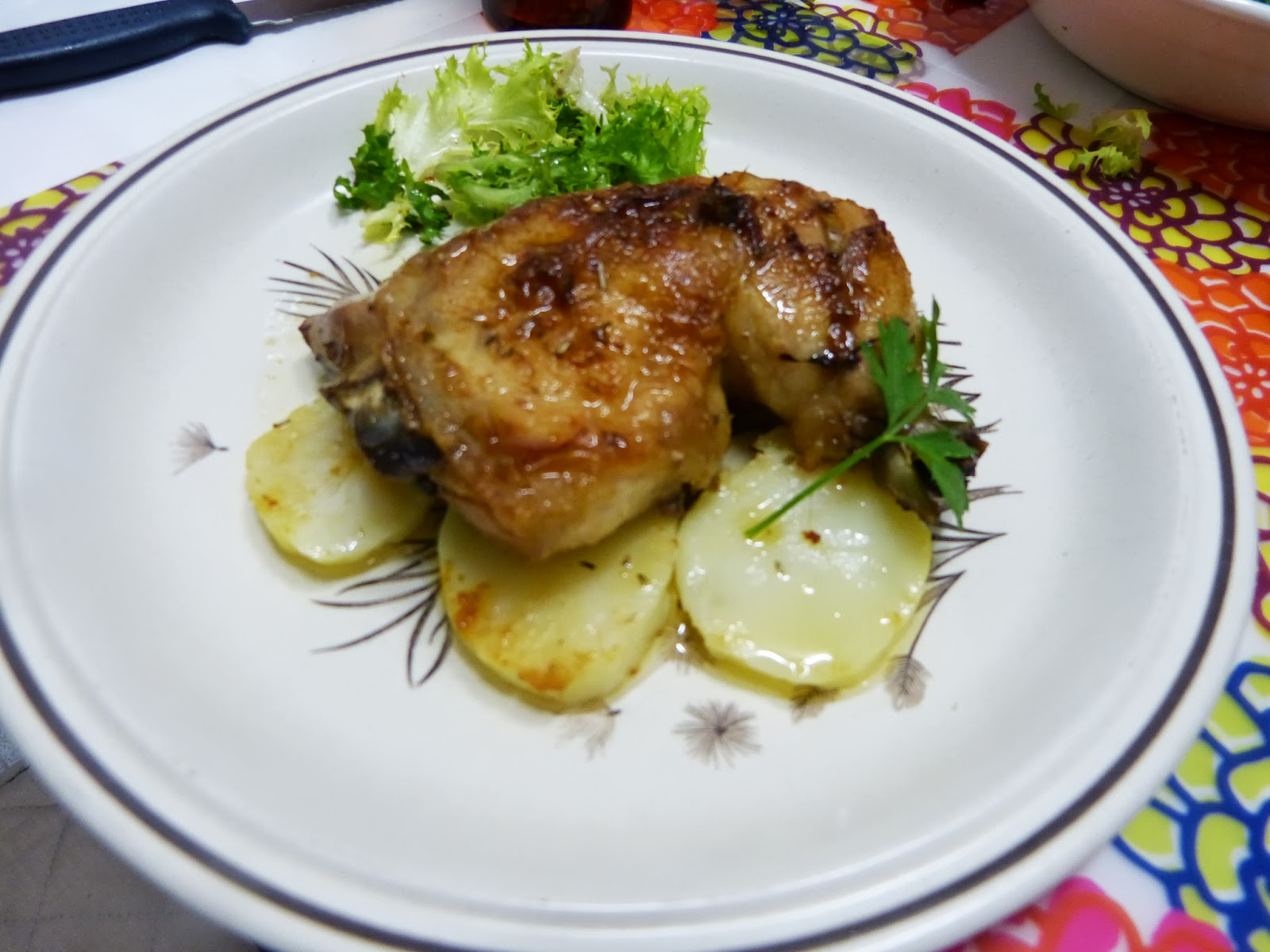 Cocinando con vicky recetas de cocina pollo asado a las finas hierbas - Pollo asado a las finas hierbas ...