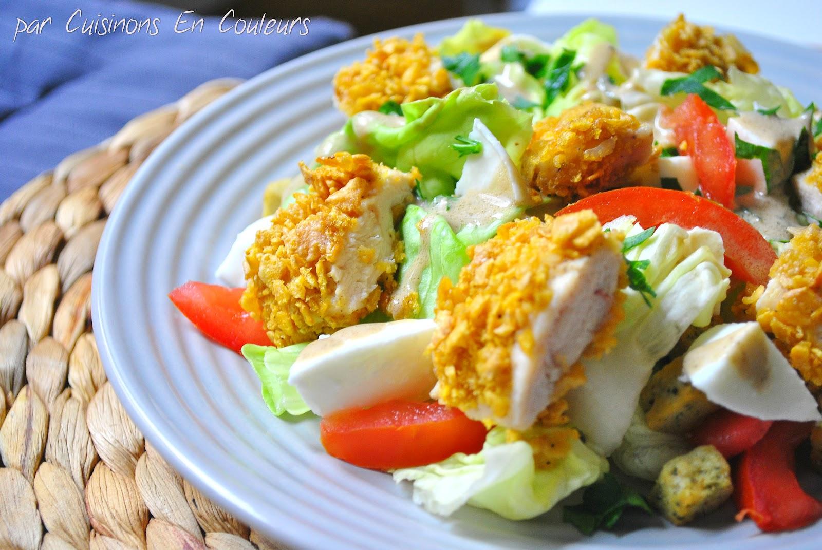 Poulet Pane Aux Corn Flakes Et Je Ne Vous Raconte Pas De Salades