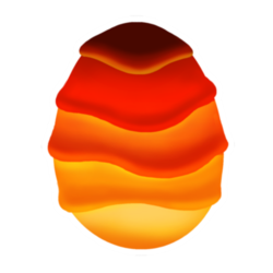 Appearance of Magma Dragon when egg