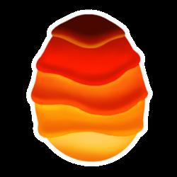 Aspetto di uovo Drago Magma