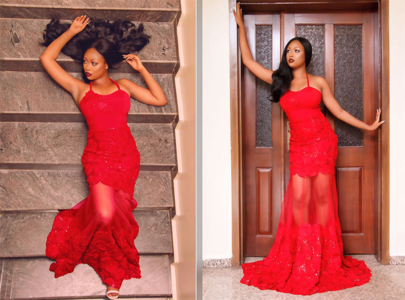Most Beautiful Model In Nigeria International Adaeze Aduaka releases Valentine photos