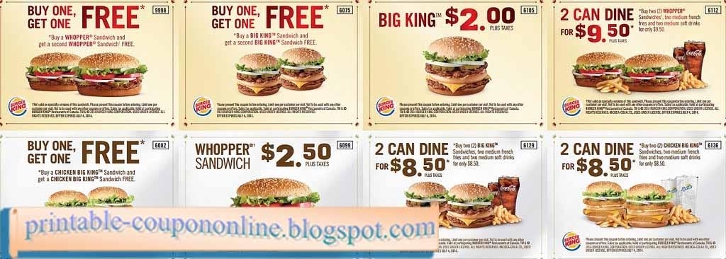 Bk coupons uk
