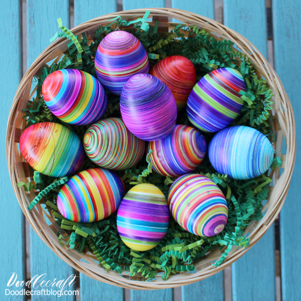 How to use the Eggmazing Easter egg decorating tool for the perfect striped eggs.