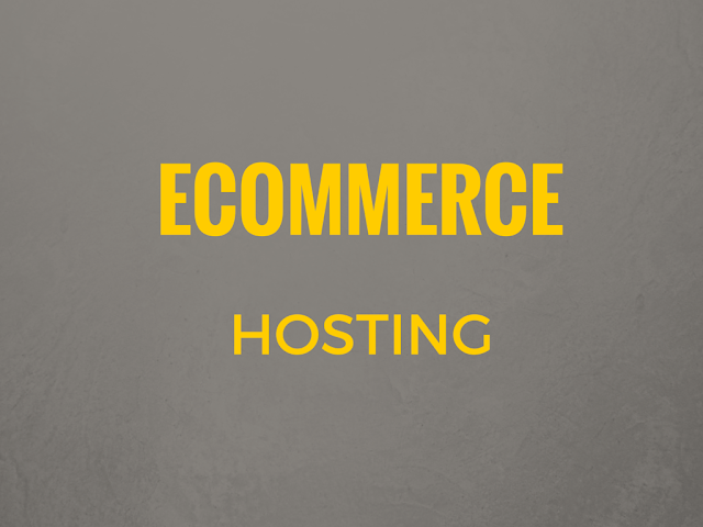 List of best ecommerce hosting service providers