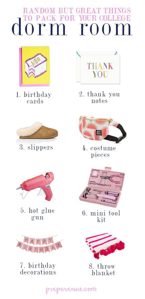 Random but Great Things To Pack For Your College Dorm Room Prep
