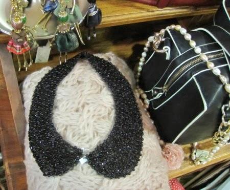 Cuello de perlitas en negro