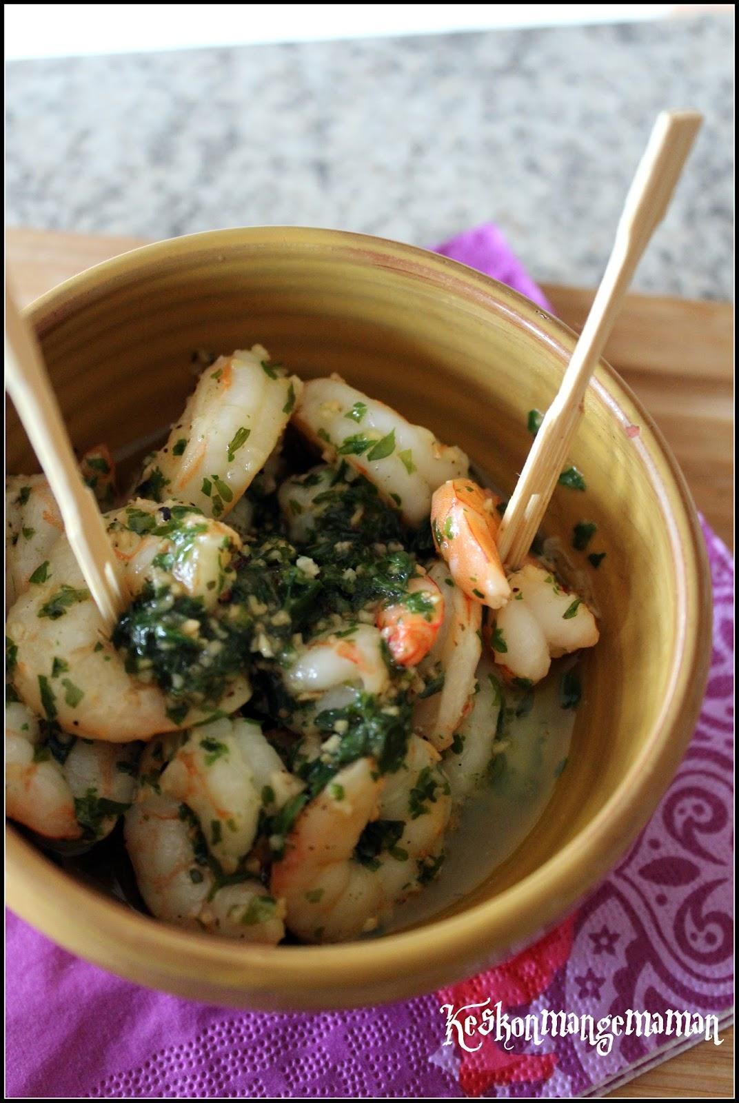 Keskonmangemaman crevettes saut es ail et persil linguine aux crevettes l 39 ail - Quand repiquer le persil ...