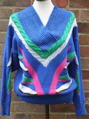 Women's ugly lurex sweater from the 80s