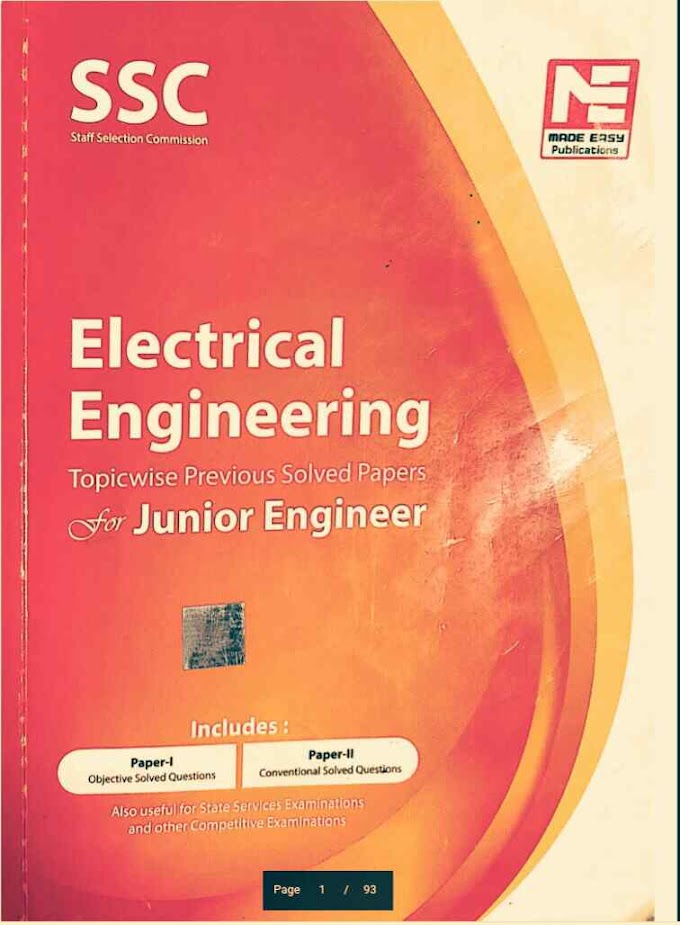 DOWNLOAD SSC JE ELECTRICAL ENGINEERING BOOK