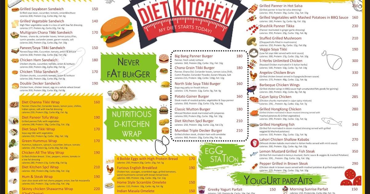Ruchi Chauhan (Graphic Designer): Diet Kitchen Menu Card - Front and ...